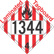 Flammable Solid Class 4.1 UN1344 Tagboard DOT Placard