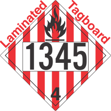 Flammable Solid Class 4.1 UN1345 Tagboard DOT Placard