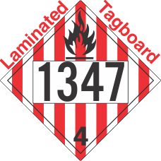 Flammable Solid Class 4.1 UN1347 Tagboard DOT Placard