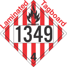 Flammable Solid Class 4.1 UN1349 Tagboard DOT Placard