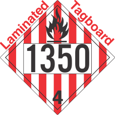 Flammable Solid Class 4.1 UN1350 Tagboard DOT Placard