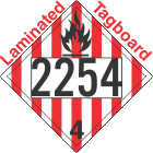 Flammable Solid Class 4.1 UN2254 Tagboard DOT Placard