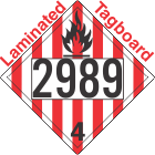 Flammable Solid Class 4.1 UN2989 Tagboard DOT Placard
