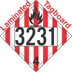 Flammable Solid Class 4.1 UN3231 Tagboard DOT Placard
