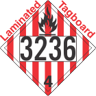 Flammable Solid Class 4.1 UN3236 Tagboard DOT Placard