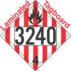 Flammable Solid Class 4.1 UN3240 Tagboard DOT Placard