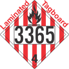 Flammable Solid Class 4.1 UN3365 Tagboard DOT Placard