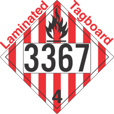 Flammable Solid Class 4.1 UN3367 Tagboard DOT Placard