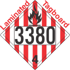 Flammable Solid Class 4.1 UN3380 Tagboard DOT Placard