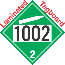 Non-Flammable Gas Class 2.2 UN1002 Tagboard DOT Placard