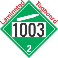Non-Flammable Gas Class 2.2 UN1003 Tagboard DOT Placard