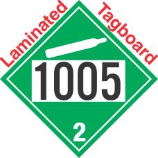 Non-Flammable Gas Class 2.2 UN1005 Tagboard DOT Placard
