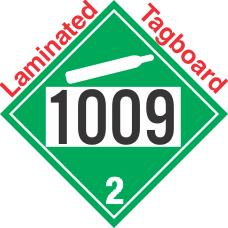 Non-Flammable Gas Class 2.2 UN1009 Tagboard DOT Placard