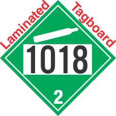 Non-Flammable Gas Class 2.2 UN1018 Tagboard DOT Placard