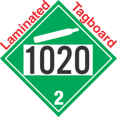 Non-Flammable Gas Class 2.2 UN1020 Tagboard DOT Placard