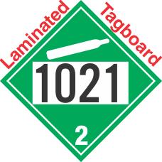 Non-Flammable Gas Class 2.2 UN1021 Tagboard DOT Placard