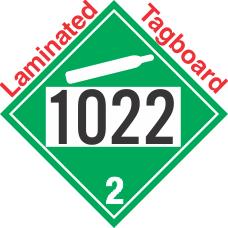 Non-Flammable Gas Class 2.2 UN1022 Tagboard DOT Placard