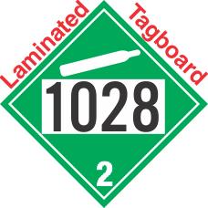 Non-Flammable Gas Class 2.2 UN1028 Tagboard DOT Placard