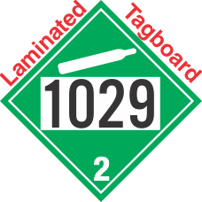 Non-Flammable Gas Class 2.2 UN1029 Tagboard DOT Placard