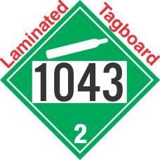 Non-Flammable Gas Class 2.2 UN1043 Tagboard DOT Placard