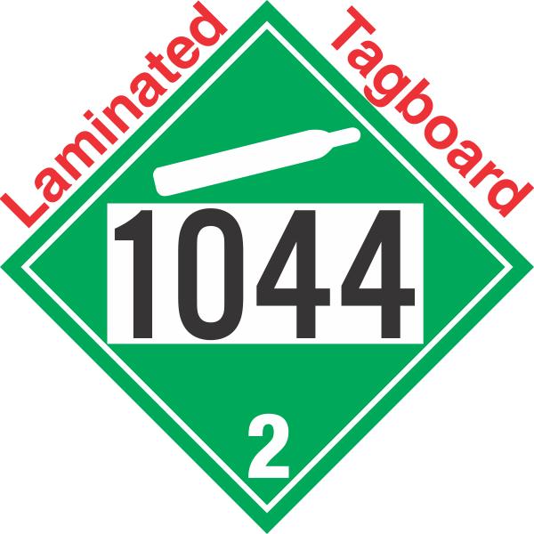 Non Flammable Gas Class 22 Un1044 Tagboard Dot Placard