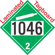 Non-Flammable Gas Class 2.2 UN1046 Tagboard DOT Placard