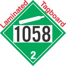 Non-Flammable Gas Class 2.2 UN1058 Tagboard DOT Placard