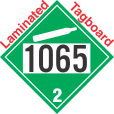 Non-Flammable Gas Class 2.2 UN1065 Tagboard DOT Placard