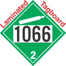 Non-Flammable Gas Class 2.2 UN1066 Tagboard DOT Placard