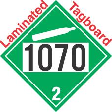Non-Flammable Gas Class 2.2 UN1070 Tagboard DOT Placard