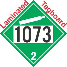 Non-Flammable Gas Class 2.2 UN1073 Tagboard DOT Placard