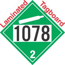 Non-Flammable Gas Class 2.2 UN1078 Tagboard DOT Placard