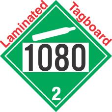 Non-Flammable Gas Class 2.2 UN1080 Tagboard DOT Placard