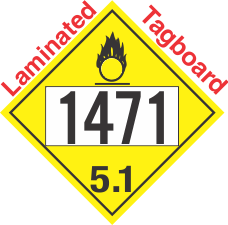 Oxidizer Class 5.1 UN1471 Tagboard DOT Placard