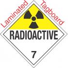 Radioactive Class 7 UN2911 Tagboard DOT Placard