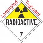 Radioactive Class 7 UN2919 Tagboard DOT Placard
