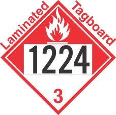 Combustible Class 3 UN1224 Tagboard DOT Placard