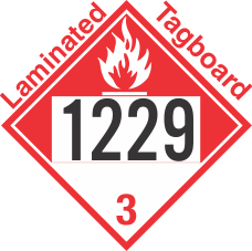Combustible Class 3 UN1229 Tagboard DOT Placard
