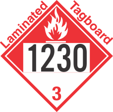 Combustible Class 3 UN1230 Tagboard DOT Placard