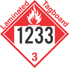 Combustible Class 3 UN1233 Tagboard DOT Placard
