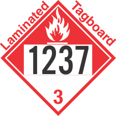 Combustible Class 3 UN1237 Tagboard DOT Placard
