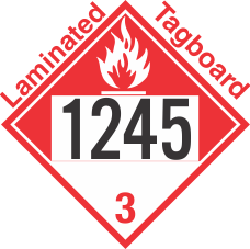 Combustible Class 3 UN1245 Tagboard DOT Placard