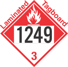 Combustible Class 3 UN1249 Tagboard DOT Placard