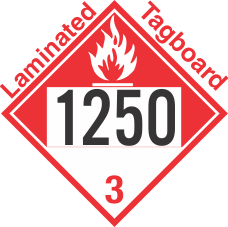 Combustible Class 3 UN1250 Tagboard DOT Placard
