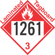 Combustible Class 3 UN1261 Tagboard DOT Placard
