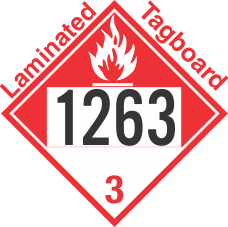 Combustible Class 3 UN1263 Tagboard DOT Placard