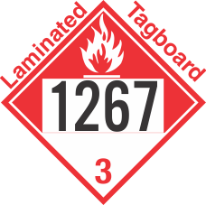 Combustible Class 3 UN1267 Tagboard DOT Placard
