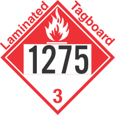 Combustible Class 3 UN1275 Tagboard DOT Placard
