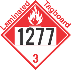 Combustible Class 3 UN1277 Tagboard DOT Placard