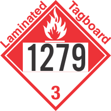 Combustible Class 3 UN1279 Tagboard DOT Placard